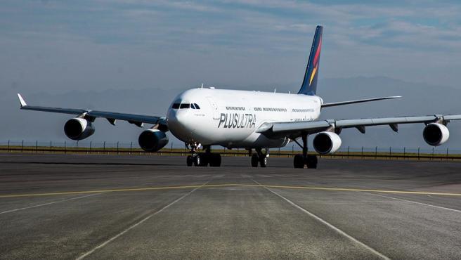 Un avión de Plus Ultra Líneas Aéreas.
