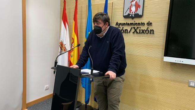 Archivo - Pelayo Barcia, concejal de Foro Gijón