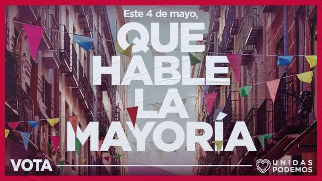 Cartel de la campaña de Unidas Podemos.