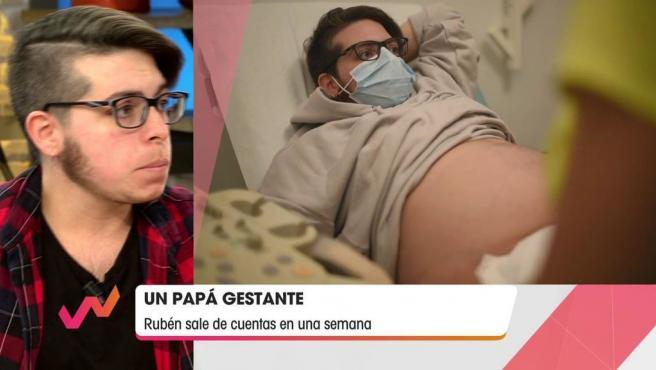 Rubén, el primer hombre embarazado de España.