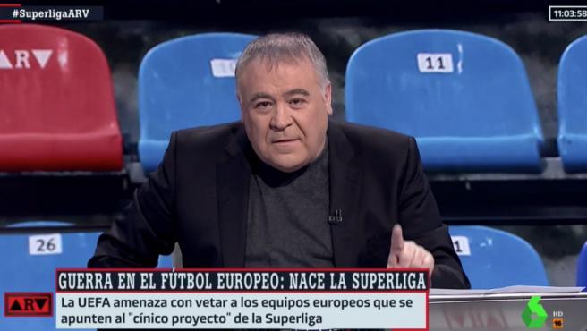 Antonio García Ferreras, hablando sobre la Superliga