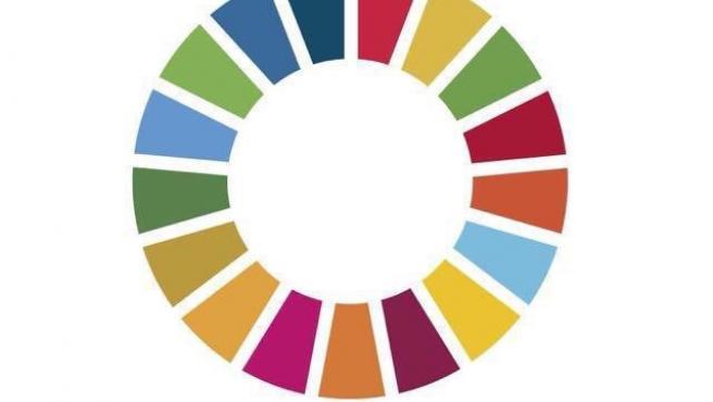 Archivo - Círculo que simboliza los 17 Objetivos de Desarrollo Sostenible de la Agenda 2030 de la ONU