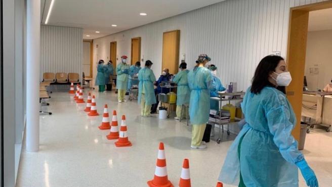 Archivo - Un cribado para detectar casos de Covid en el área sanitaria de Santiago y Barbanza.