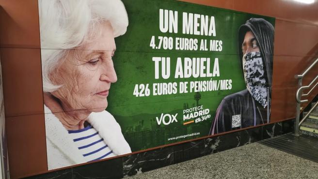El cartel electoral de Vox que ha motivado la apertura de diligencias de la Fiscalía.