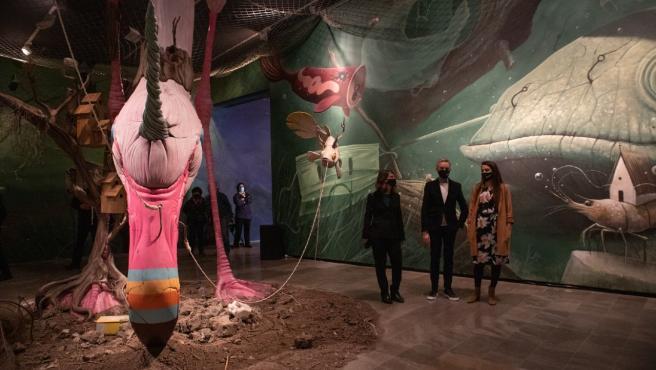 La consellera de Agricultura, Mireia Mollà, visita la exposición 'Naturaleza Muerta' en el Centre del Carme de Cultura Contemporánea.