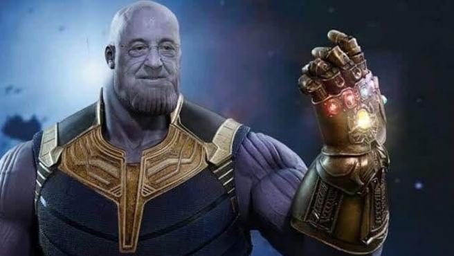Meme de Florentino Pérez como Thanos, el villano de 'Los Vengadores'