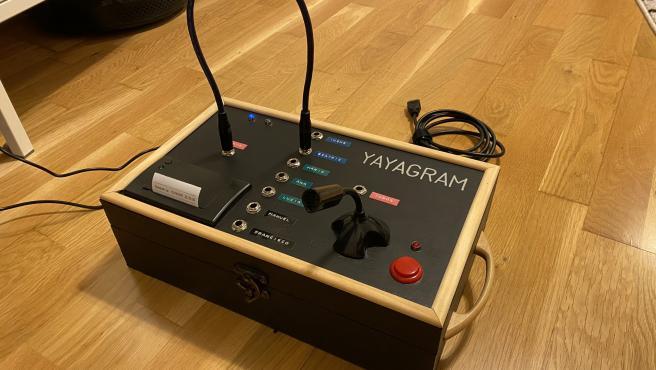 Este es el Yayagram que diseñó para su abuela.