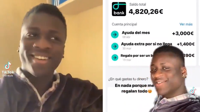 """Erik muestra en TikTok la que sería """"la vida de un negro en España"""" según los estereotipos."""