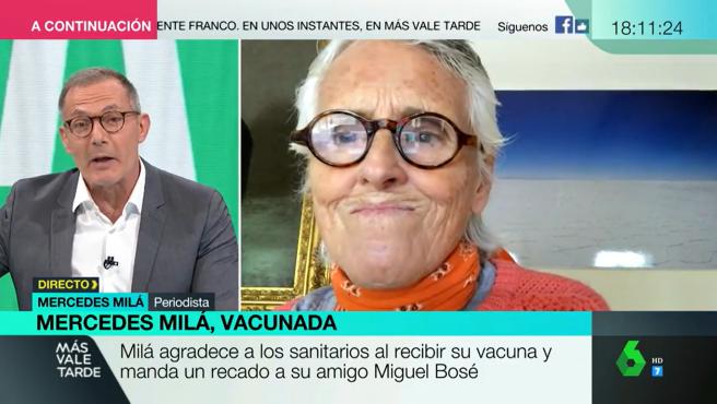 Hilario Pino y Mercedes Milá en 'Más vale tarde'.
