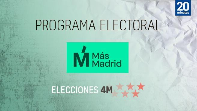 Programa de Más Madrid en Madrid para las elecciones de 2021