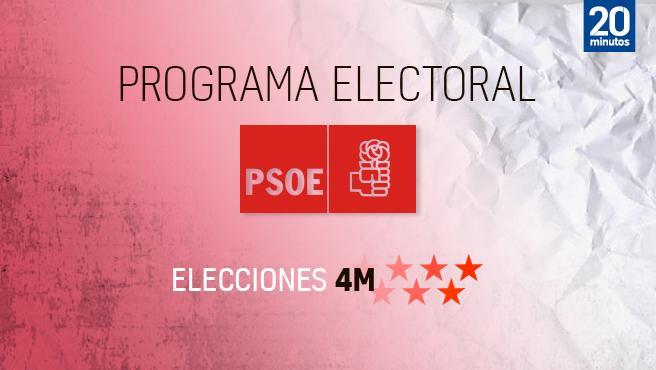 Programa del PSOE en Madrid para las elecciones de 2021