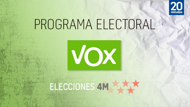 Programa electoral de Vox para 4 m.
