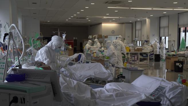 Archivo - UCI COVID de un hospital