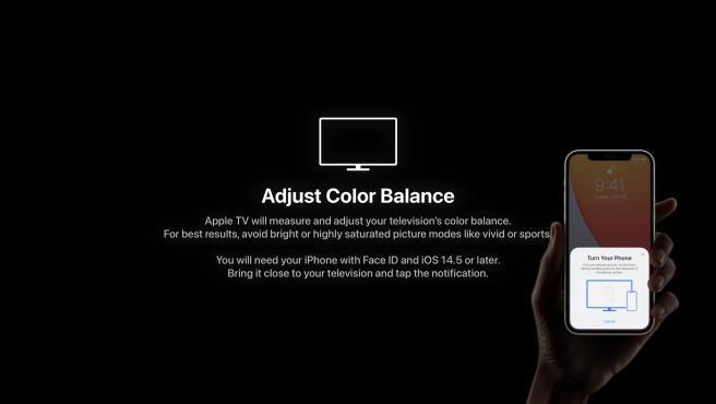 Puede ajustar el color de su televisor muy fácilmente con su iPhone.
