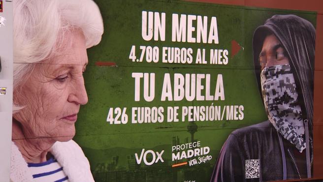 Fiscalía solicita al juez la retirada del cartel electoral de Vox