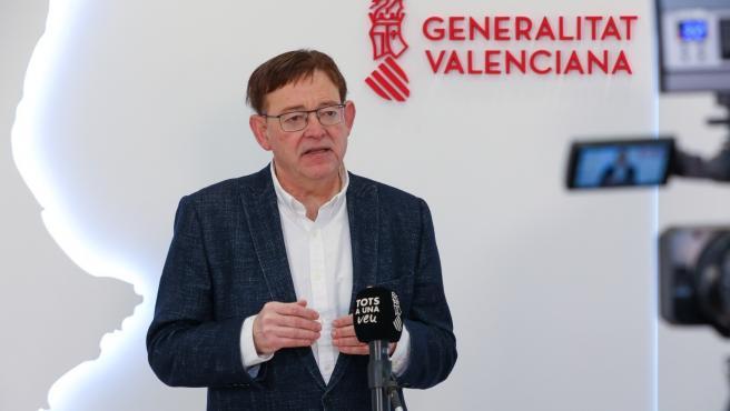 Archivo - El 'president' de la Generalitat Valenciana, Ximo Puig (imatge d'arxiu)