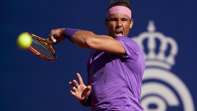 El tenista español Rafa Nadal, durante su triunfo en el partido contra el británico Cameron Norrie, en los cuartos de final del Barcelona Open Banc Sabadell 2021