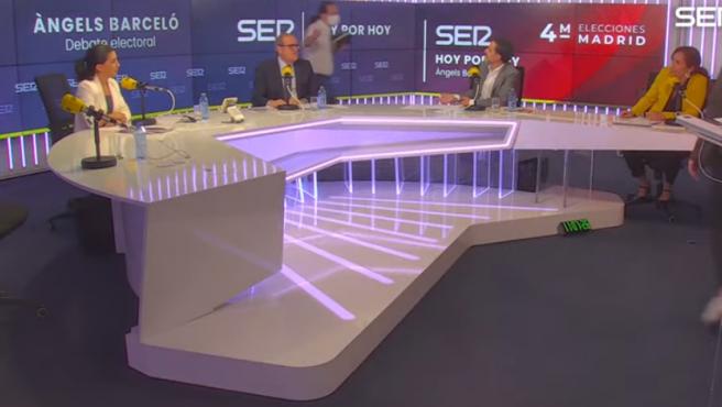 Pablo Iglesias abandona el debate de la SER