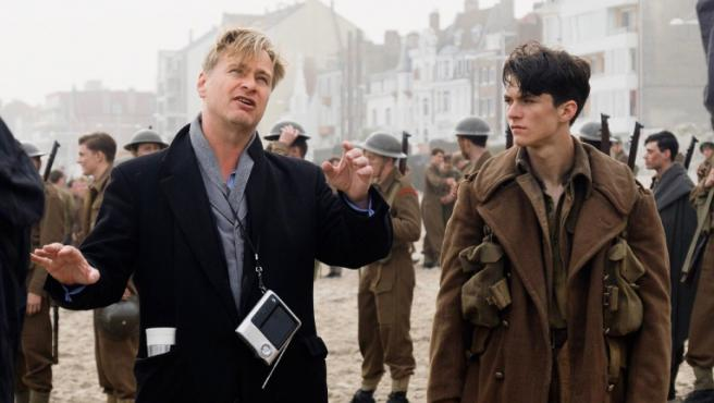 Christopher Nolan en el set de 'Dunkerque'