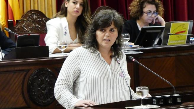 Archivo - La diputada de Unidas Podemos Cristina Mayor.