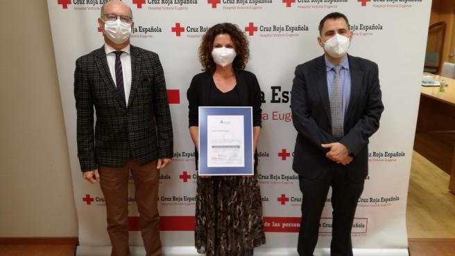 Certificación de la ACSA al hospital Victoria Eugenia, de Cruz Roja Española