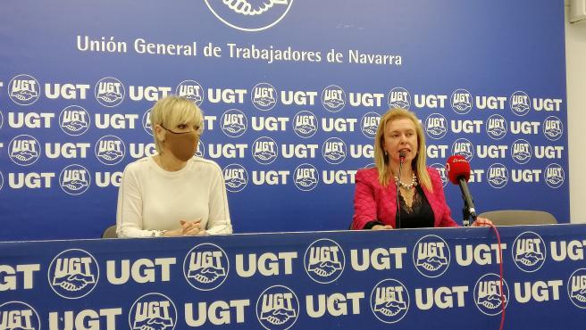 Marisol Vicente y María José Latasa, de UGT de Navarra