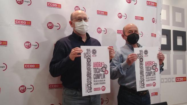 """UGT y CCOO """"recuperan"""" el Primero de Mayo en la calle para reclamar la puesta en marcha de la agenda social """"pendiente"""""""