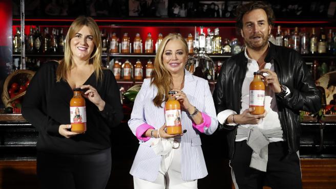 Belen Esteban, Carlota Corredera y Raul Merida en la presentación de Sabores de la Esteban.
