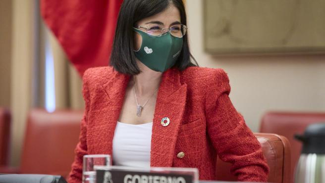 La ministra de Salud, Carolina Darias, este jueves en el Congreso.