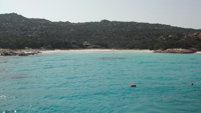 Playa Rosa en la isla de Budelli, Cerdeña, Italia.