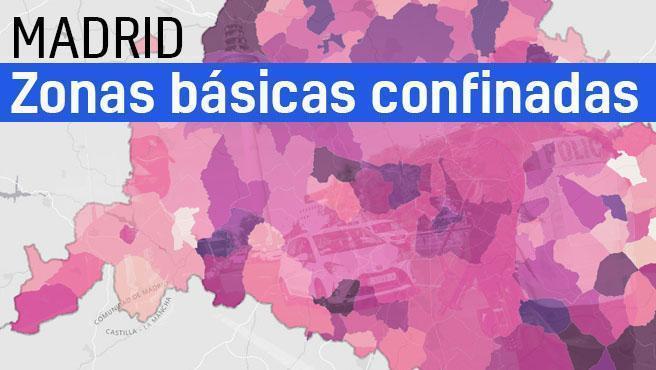A partir del próximo lunes quedan con restricciones un total de 16 zonas básicas de salud y 2 municipios, lo cual afecta a 451.000 personas, lo cual supone el 6,7% de la población madrileña. Las nuevas zonas que se añaden a las restricciones desde las 0.00 horas de este lunes 3 de mayo y durante los siguientes 14 días: en San Sebastián de los Reyes, la zona básica de Reyes Católicos, en Getafe, la ZBS de Las Rozas, y en Madrid capital, la ZBS de Vicente Muzas, en el distrito de Hostaleza, y Daroca, en Ciudad Lineal. Así lo han dado a conocer este viernes el viceconsejero de Salud Pública y Plan COVID-19 de la Comunidad de Madrid, Antonio Zapatero, y la directora general de Salud Pública, Elena Andradas, que han actualizado la información sobre la situación epidemiológica y asistencial en la región por coronavirus. Siga aquí en directo la rueda de prensa.