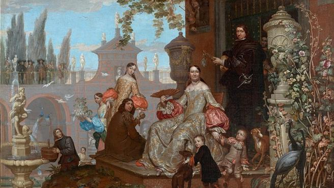 El cuadro 'Familia en un jardín' de Jan Van Kessel el Joven.