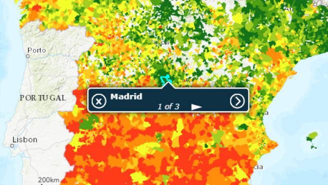 Datos de la Renta media de España