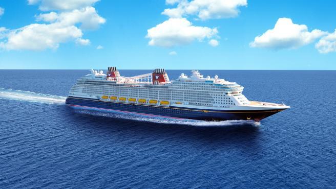 Una imagen de cómo será el Disney Wish cuando navegue.