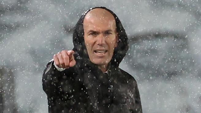 Zidane, en la ida contra el Chelsea.