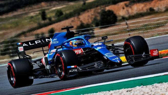 Fernando Alonso, en el circuito de Portimao
