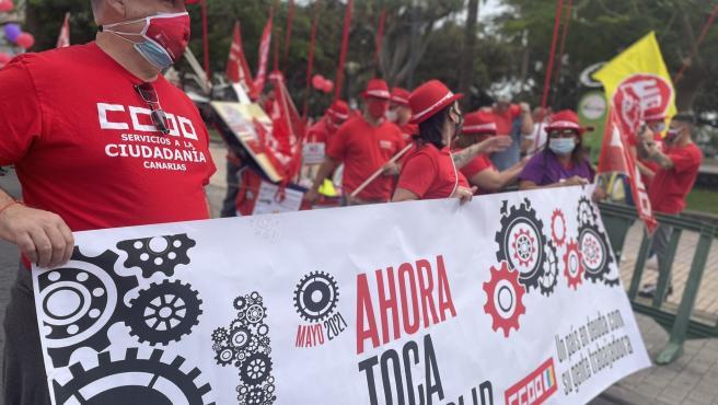 """UGT-Canarias defiende el Primero de Mayo como un """"día de inflexión"""" en la historia de las reivindicaciones sindicales"""