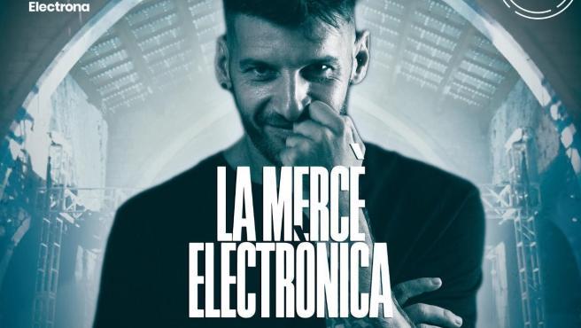 Cartel del concierto de música electrónica celebrado en Girona.