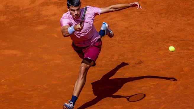 Carlos Alcaraz, en su debut en el Mutua Madrid Open.