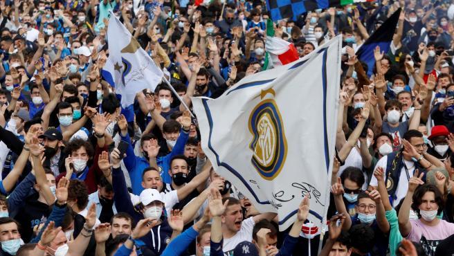 Inter Milan title celebration