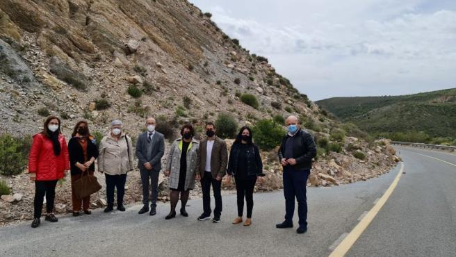 El PSOE urge a la Junta el arreglo de la A-348 entre Cádiar y Yátor, afectada por desprendimientos