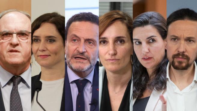 Los candidatos a las elecciones autonómicas de la Comunidad de Madrid.