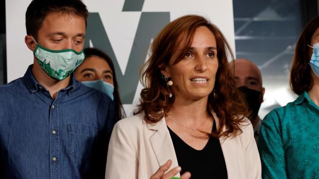 Mónica García, candidata de Más Madrid, e Íñigo Errejón, líder de Más País.