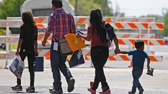 Una familia de inmigrantes en McAllen, Texas (EE. UU.).
