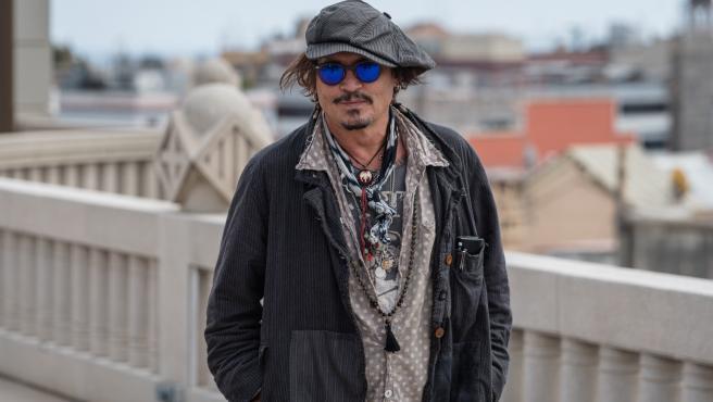 Johnny Depp promocionando El fotógrafo de Minamata en Barcelona.
