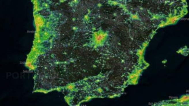 La Comunitat Valenciana, la tercera que más contaminación lumínica genera por detrás de Madrid y País Vasco