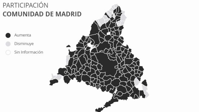 Mapa de voto del 4-M