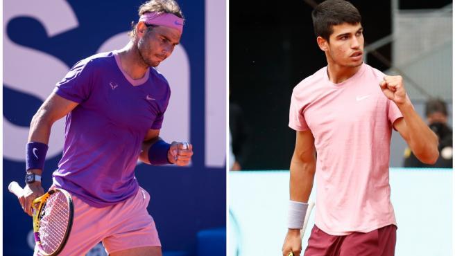 Rafa Nadal y Carlos Alcaraz.