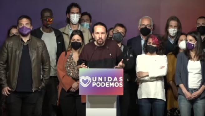 El líder de Podemos, Pablo Iglesias, anuncia que deja la política.
