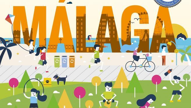 El Ayuntamiento de Málaga se suma a 'Nationale-Nederlanden Plogging Tour', que llegará el 16 de mayo